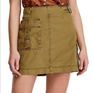 Free People Erika Utility Skirt, Canteen Size 4